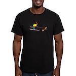 Dog Skijoring Men's Fitted T-Shirt (dark)
