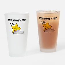 Custom Sleeping Star Cartoon Drinking Glass