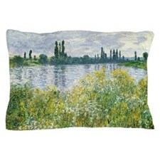 Claude Monet - Banks of the Seine Pillow Case