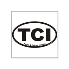 Turks & Caicos Islands TCI Euro Oval Sticker