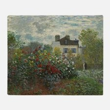Claude Monet - The Artists Garden in Throw Blanket