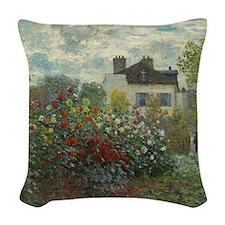 Claude Monet - The Artists Gar Woven Throw Pillow