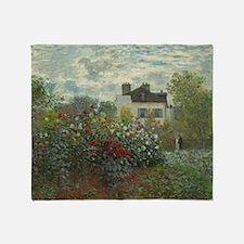 Claude Monet - The Artists Garden in Throw Blanket
