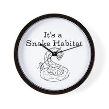 Snake Habitat Wall Clock
