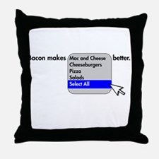 Bacon Makes Throw Pillow