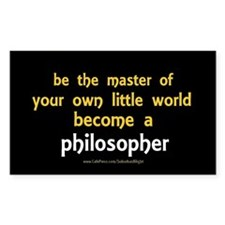 """Be the Master Philosopher"" Decal"
