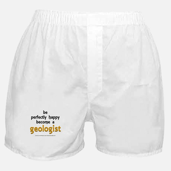 """Perfectly Happy Geologist"" Boxer Shorts"