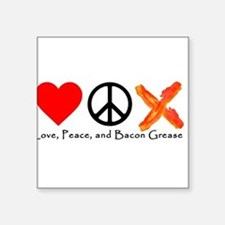 Love Peace and Bacon Grease Sticker