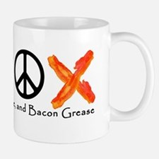 Love Peace and Bacon Grease Mugs