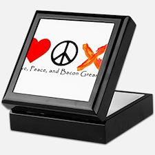Love Peace and Bacon Grease Keepsake Box