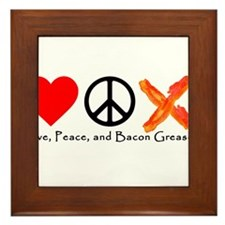 Love Peace and Bacon Grease Framed Tile