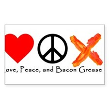 Love Peace and Bacon Grease Decal