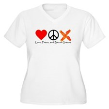 Love Peace and Bacon Grease Plus Size T-Shirt
