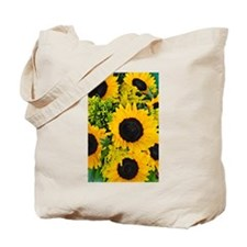 Yellow painted sunflowers Tote Bag