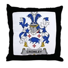 Crowley Family Crest Throw Pillow