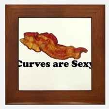 Curves are Sexy Bacon Framed Tile