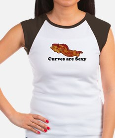 Curves are Sexy Bacon T-Shirt