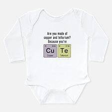 Cu Te (Cute) Chemistry Long Sleeve Infant Bodysuit