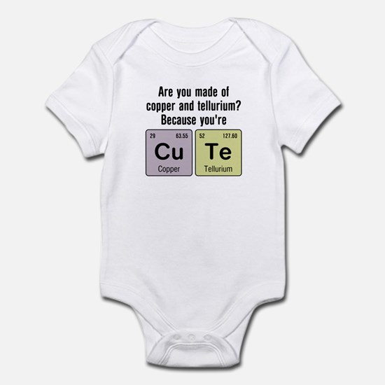 Cu Te (Cute) Chemistry Infant Bodysuit