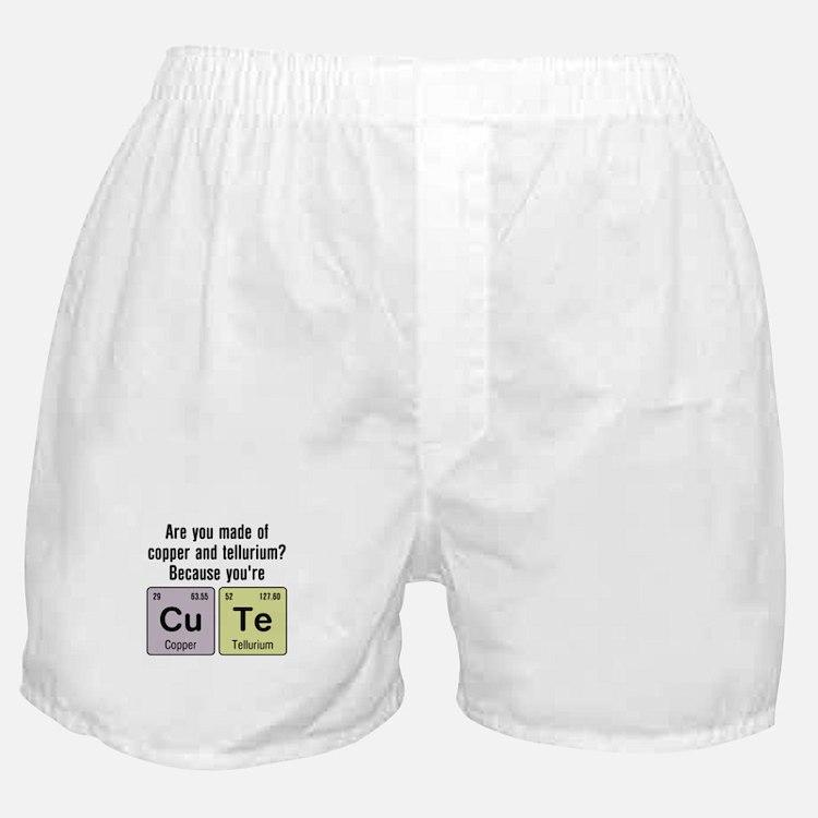 Cu Te (Cute) Chemistry Boxer Shorts
