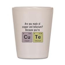 Cu Te (Cute) Chemistry Shot Glass