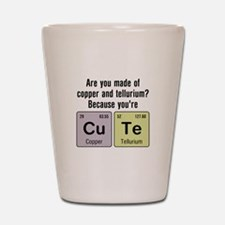 Cu Te (Cute) Chemistry Shot Glass