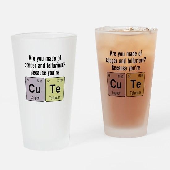 Cu Te (Cute) Chemistry Drinking Glass