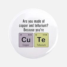 """Cu Te (Cute) Chemistry 3.5"""" Button"""