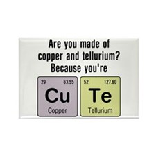 Cu Te (Cute) Chemistry Rectangle Magnet (10 pack)