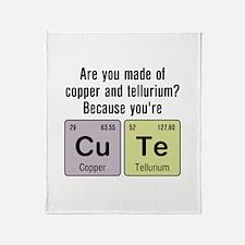 Cu Te (Cute) Chemistry Throw Blanket