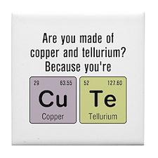 Cu Te (Cute) Chemistry Tile Coaster