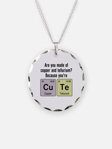 Cu Te (Cute) Chemistry Necklace