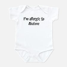 Allergic to Abalone Infant Bodysuit