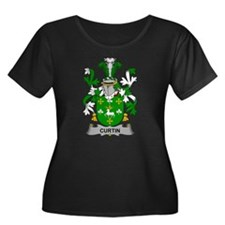 Curtin Family Crest Plus Size T-Shirt