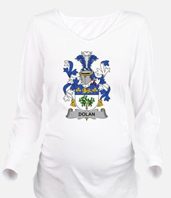 Dolan Family Crest Long Sleeve Maternity T-Shirt