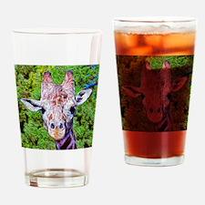 Stylized Giraffe Drinking Glass