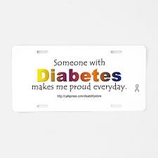 Unique Diabetes awareness Aluminum License Plate