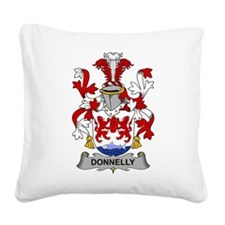 Donnelly Family Crest Square Canvas Pillow