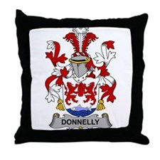 Donnelly Family Crest Throw Pillow