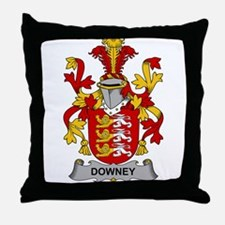 Downey Family Crest Throw Pillow
