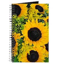 Yellow painted sunflowers Journal