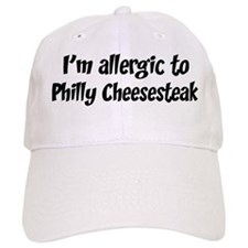 Allergic to Philly Cheesestea Baseball Cap