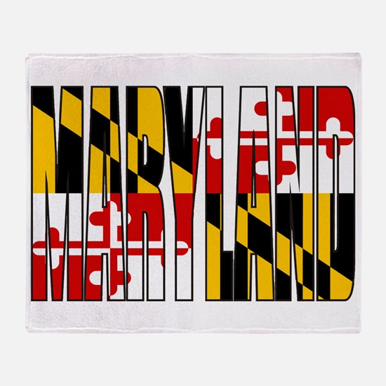 Maryland Flag Throw Blanket