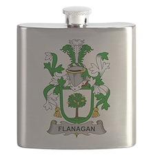 Flanagan Family Crest Flask