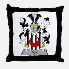 Foy Family Crest Throw Pillow