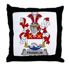 Franklin Family Crest Throw Pillow