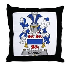 Gannon Family Crest Throw Pillow