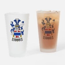 Gannon Family Crest Drinking Glass