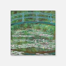 "Claude Monet - The Japanese Square Sticker 3"" x 3"""