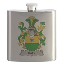 Haly Family Crest Flask